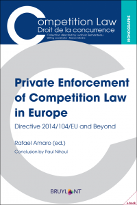 Private Enforcement of Competition Law in Europe