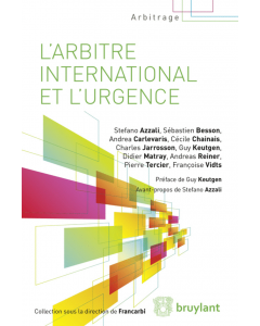 L'arbitre international et l'urgence