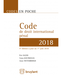 Code en poche – Code de droit international pénal 2018
