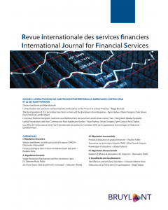 Revue internationale des services financiers / International Journal for Financial Services (RISF)