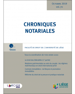 Chroniques notariales. Volume 70