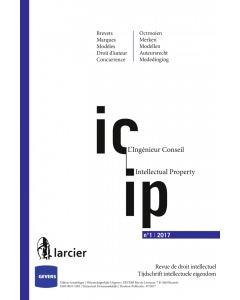 Revue de droit intellectuel - L'ingénieur conseil/Tijdschrift intellectuele eigendom - Intellectual Property (Ing.-Cons.)