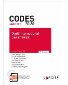 Code annoté – Droit international des affaires 2020