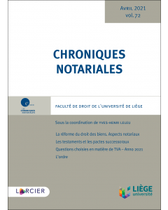 Chroniques notariales. Volume 72