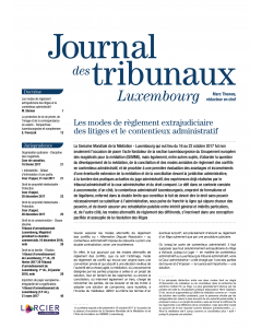 Journal des tribunaux Luxembourg - 2021