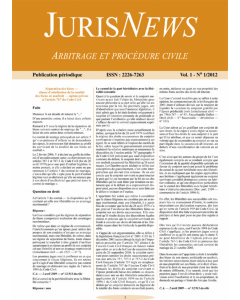 JurisNews – Arbitrage et procédure civile