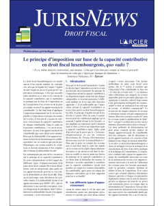 JurisNews – Droit fiscal