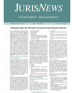 JurisNews – Investment Management