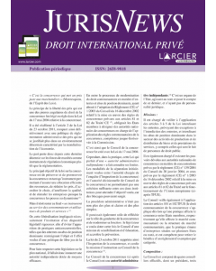 JurisNews – Droit international privé